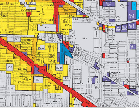 Cedar Cottage Zoning Map