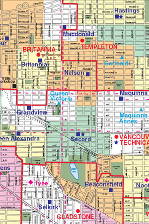 Commercial Drive School Boundaries - Commercial Drive